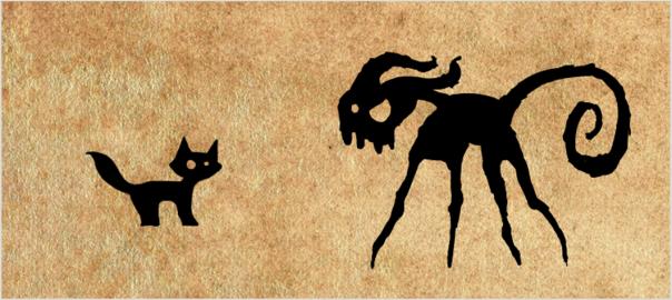 Shadow cat monster