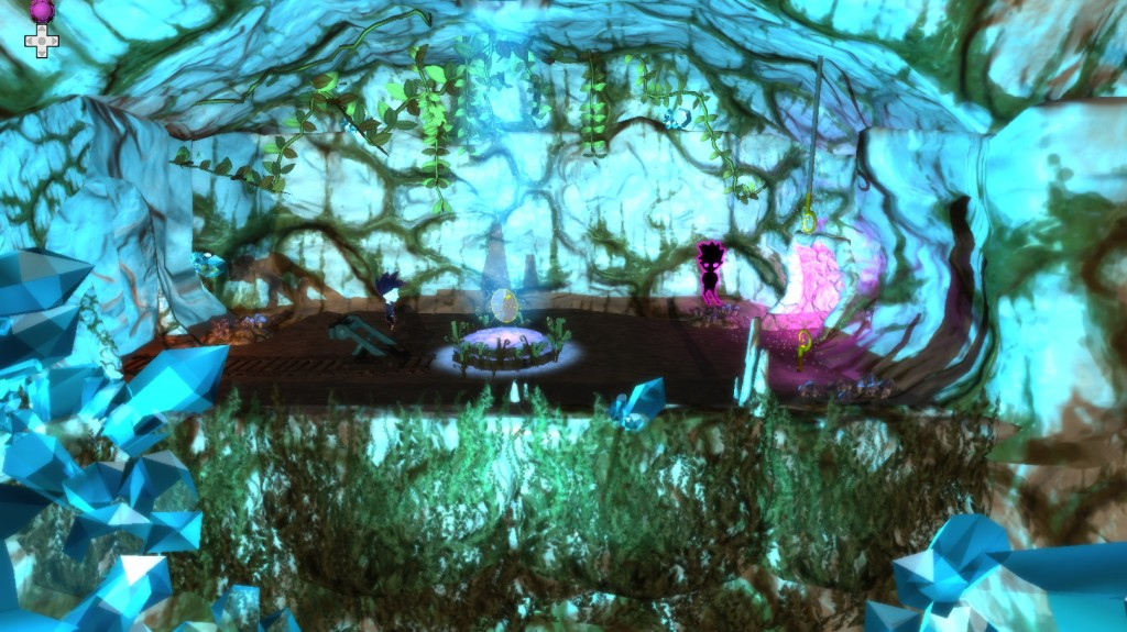 Screenshot from the Caves area
