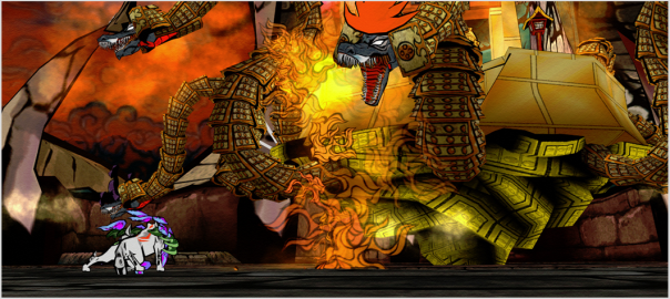 Favourite game: Okami screenshot bossfight