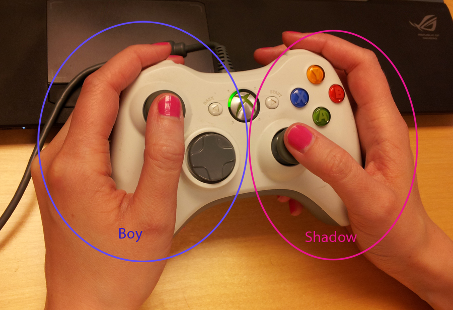 (New control setup for single player)