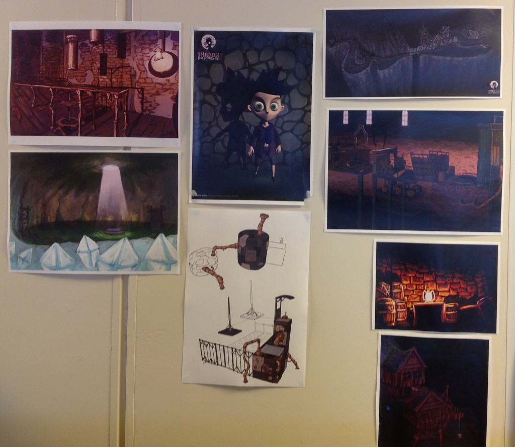 Selection of concept art on our walls