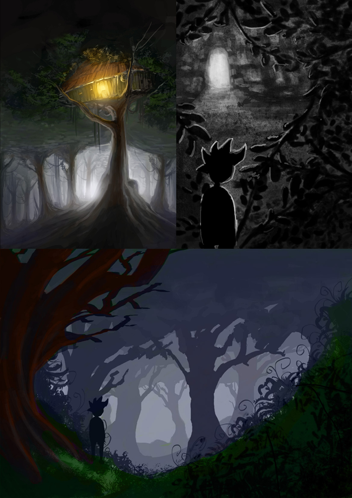 (Early concepts of a forest area)