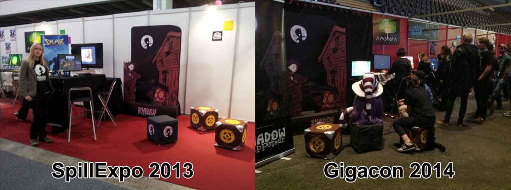 (We made a big MDF stand for last year's SpillExpo, that we brought with us to Gigacon)