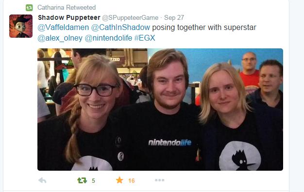 Developer Catharina Bøhler and Marianne Lerdahl at EGX posing with NintendoLife @alex_olney