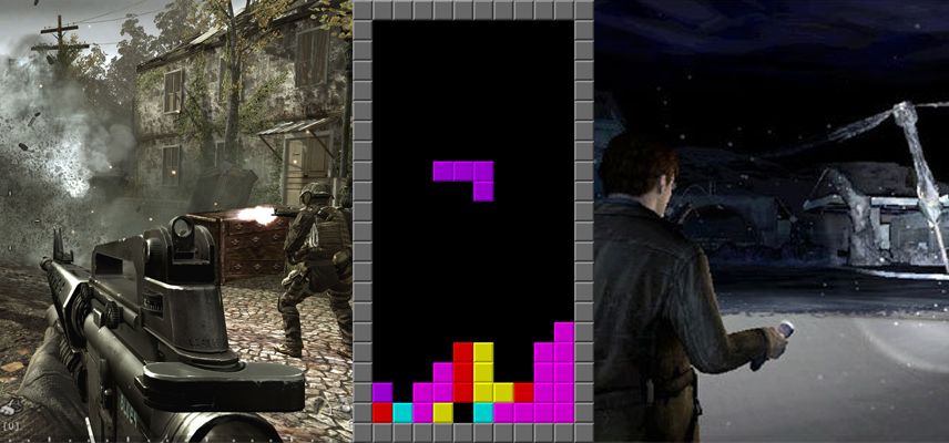 FPS, Tetris, Silent hill