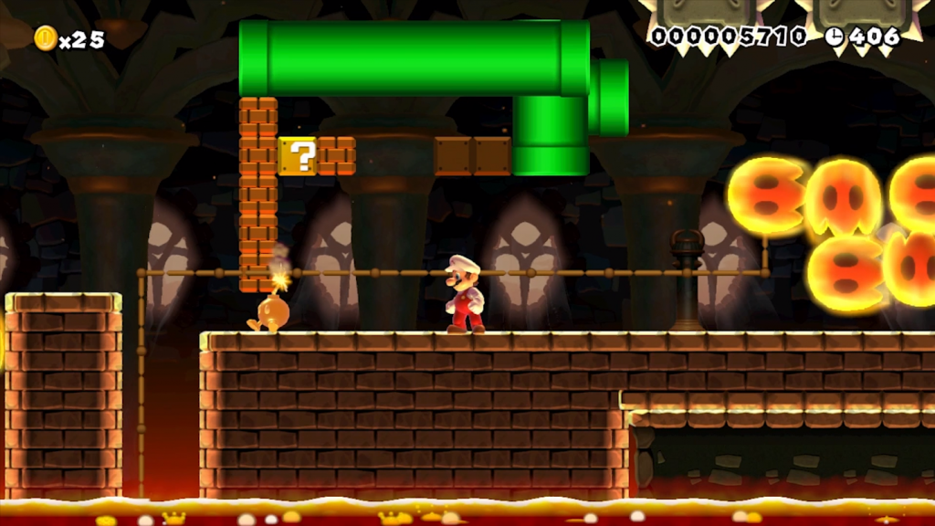 Super Mario Maker Shadow Puppeteer level