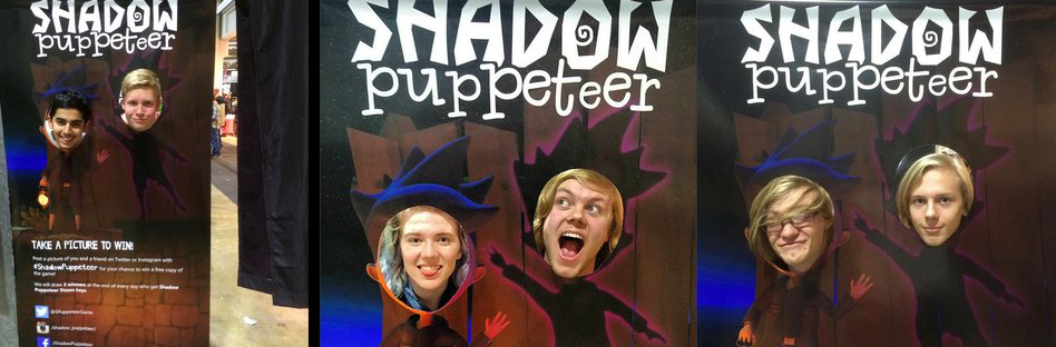 Shadow puppeteer funny faces