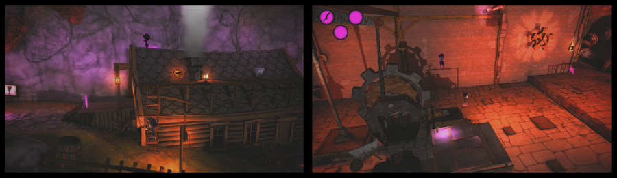 shadow puppeteer, concept art, level design, island village, industral area