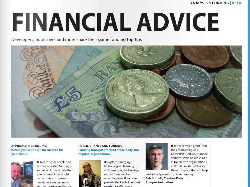 Develop magazine funding