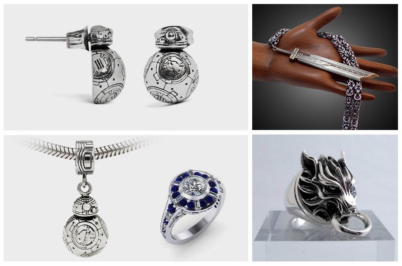geeky, valentine, jewelry, star wars, final fantasy
