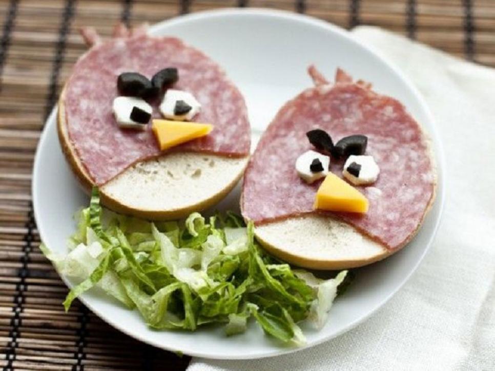 Angry birds themed breakfast