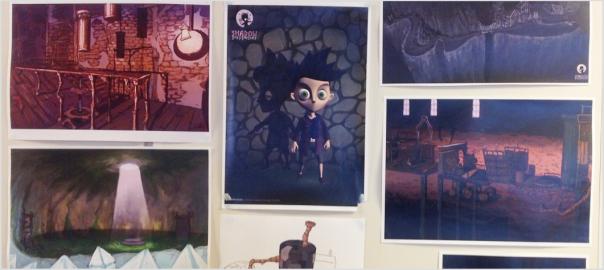 Shadow Puppeteer art on wall Sarepta studio offices
