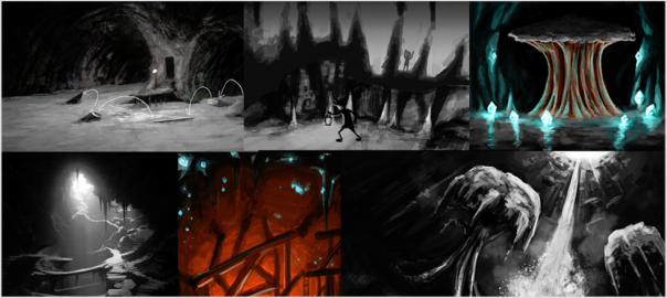 Shadow Puppeteer concept illustration cavern
