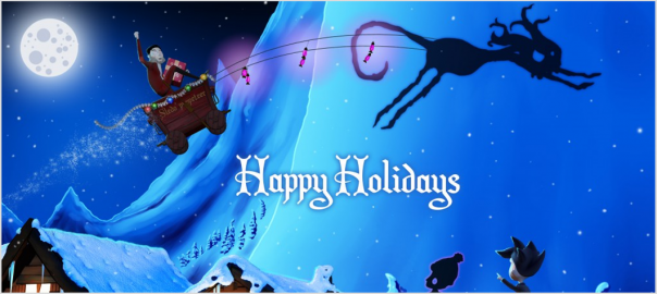 Shadow Puppeteer christmas illustration reindeer shadow cat